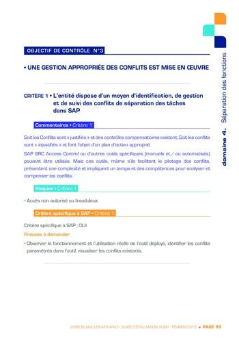 Guide d'évaluation d'un système SAP pour l'audit interne / AFAI, IFACI, USF page 96