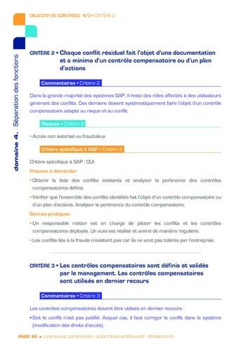 Guide d'évaluation d'un système SAP pour l'audit interne / AFAI, IFACI, USF page 97