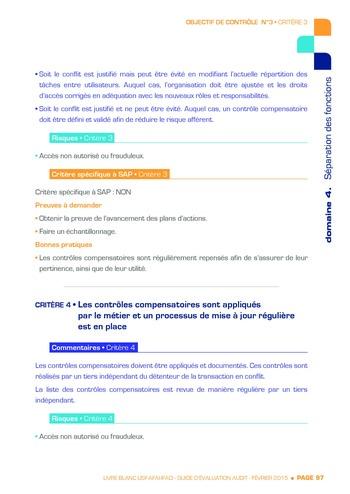 Guide d'évaluation d'un système SAP pour l'audit interne / AFAI, IFACI, USF page 98