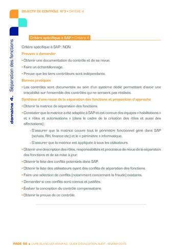 Guide d'évaluation d'un système SAP pour l'audit interne / AFAI, IFACI, USF page 99