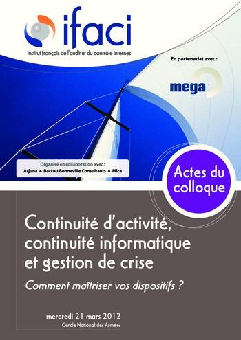 Continuité d'activité, continuité informatique et gestion de crise page 1