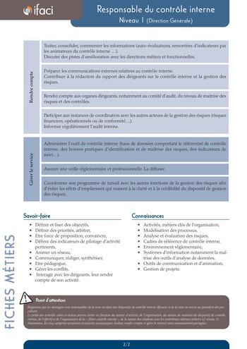 Fiche métier - Responsable du contrôle interne page 2
