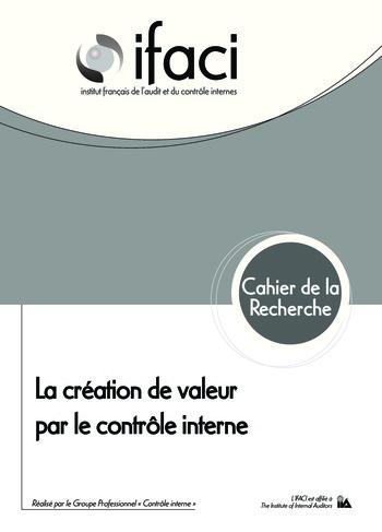 La création de valeur par le contrôle interne page 1