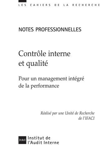 Contrôle interne et qualité page 1