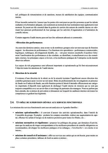 Prise de position - Urbanisme du contrôle interne page 12