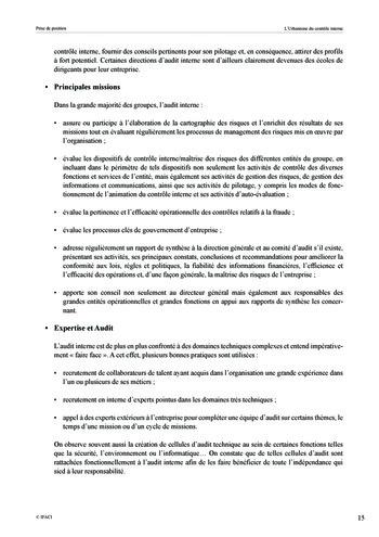 Prise de position - Urbanisme du contrôle interne page 16