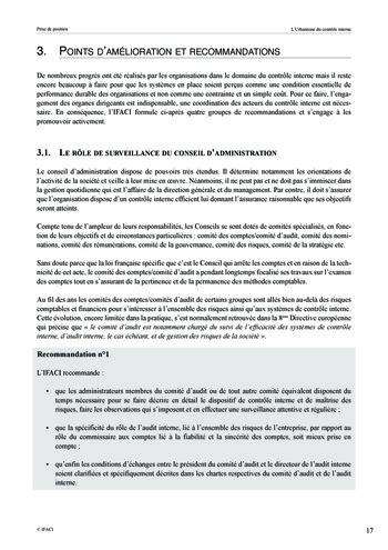 Prise de position - Urbanisme du contrôle interne page 18