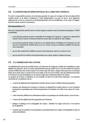 Prise de position - Urbanisme du contrôle interne page 19