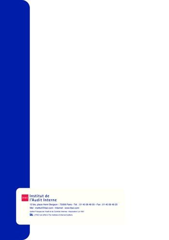 Prise de position - Urbanisme du contrôle interne page 22