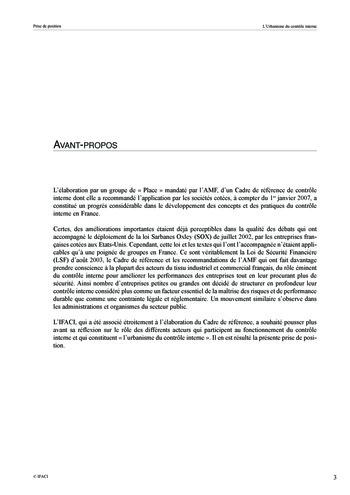 Prise de position - Urbanisme du contrôle interne page 4