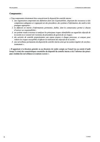 Prise de position - Urbanisme du contrôle interne page 7