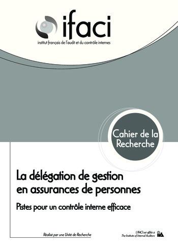 La délégation de gestion en assurances de personnes : Pistes pour un contrôle interne efficace page 1