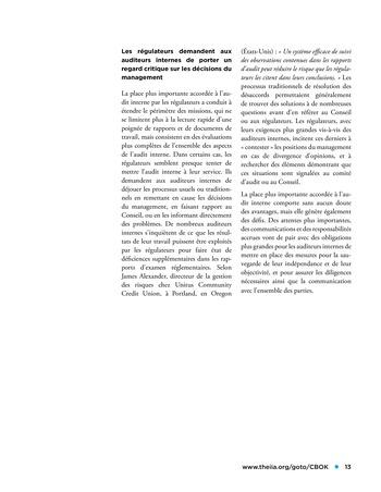 Panorama de l'audit interne dans les établissements financiers page 13