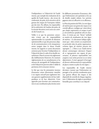 Panorama de l'audit interne dans les établissements financiers page 19