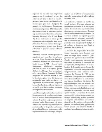 Panorama de l'audit interne dans les établissements financiers page 21