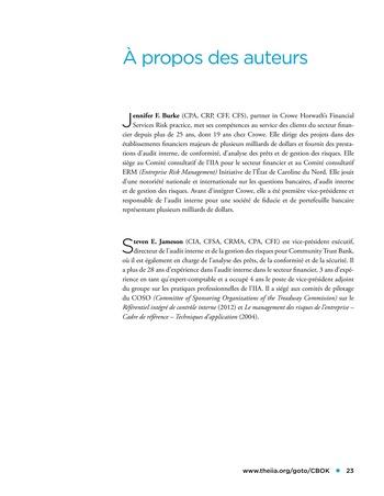 Panorama de l'audit interne dans les établissements financiers page 23