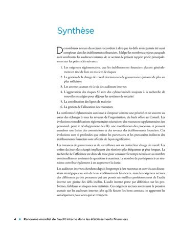Panorama de l'audit interne dans les établissements financiers page 4