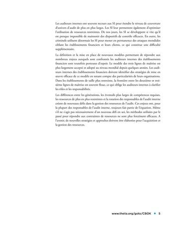 Panorama de l'audit interne dans les établissements financiers page 5