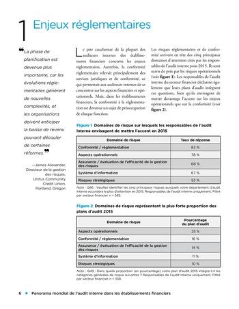 Panorama de l'audit interne dans les établissements financiers page 6