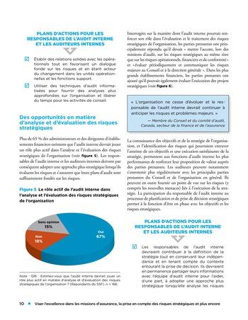 Viser l'excellence dans les missions d'assurance, la prise en compte des risques stratégiques et plus encore page 10