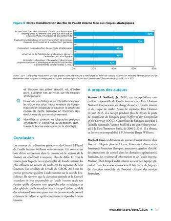 Viser l'excellence dans les missions d'assurance, la prise en compte des risques stratégiques et plus encore page 11
