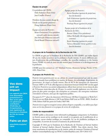 Viser l'excellence dans les missions d'assurance, la prise en compte des risques stratégiques et plus encore page 12