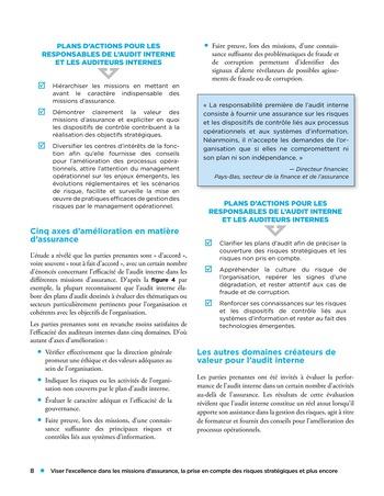 Viser l'excellence dans les missions d'assurance, la prise en compte des risques stratégiques et plus encore page 8