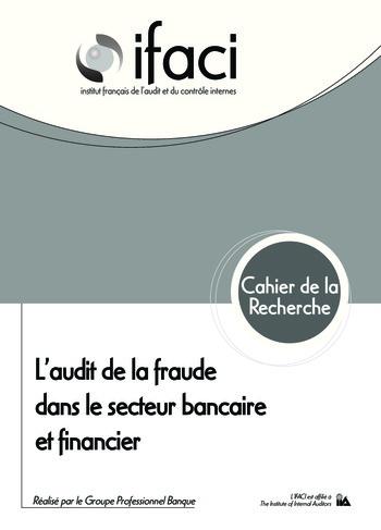 L'audit de la fraude dans le secteur bancaire et financier page 1