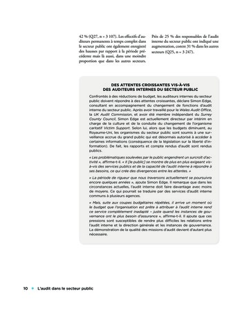 L'audit dans le secteur public page 10