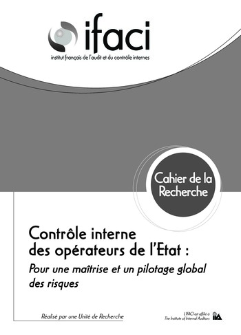 Contrôle interne des opérateurs de l'Etat : pour une maîtrise et un pilotage global des risques page 1