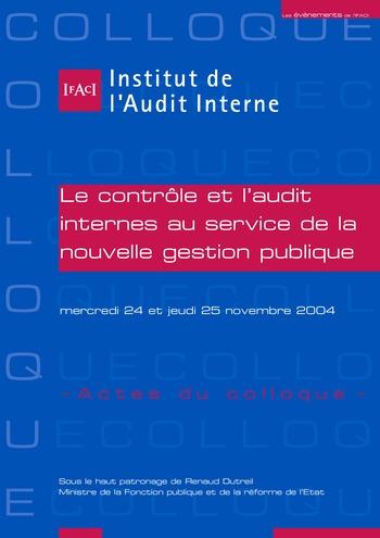 Le contrôle et l'audit internes au service de la nouvelle gestion publique page 1