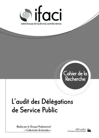 L'audit des délégations de service public page 1