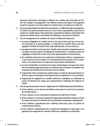 Synthèse - Référentiel intégré de contrôle interne page 10