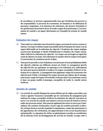 Synthèse - Référentiel intégré de contrôle interne page 13
