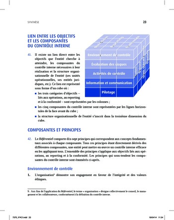 Synthèse - Référentiel intégré de contrôle interne page 15