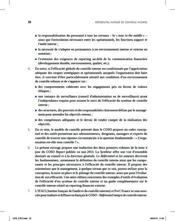 Synthèse - Référentiel intégré de contrôle interne page 2