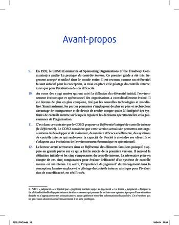 Synthèse - Référentiel intégré de contrôle interne page 5