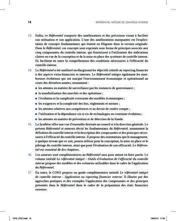 Synthèse - Référentiel intégré de contrôle interne page 6