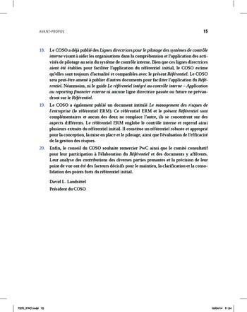 Synthèse - Référentiel intégré de contrôle interne page 7
