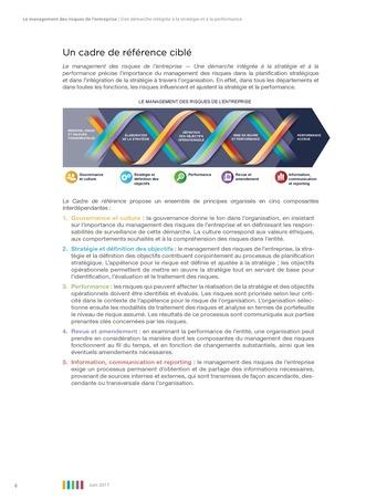 Synthèse - Le management des risques de l'entreprise - Une démarche intégrée à la stratégie et à la performance page 10