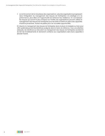 Synthèse - Le management des risques de l'entreprise - Une démarche intégrée à la stratégie et à la performance page 12