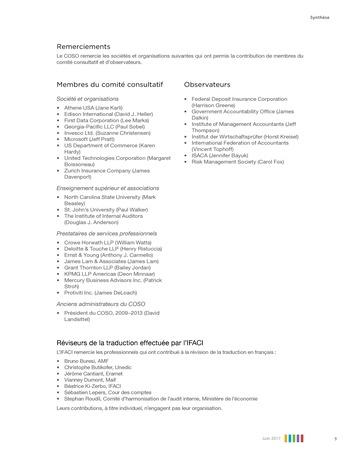 Synthèse - Le management des risques de l'entreprise - Une démarche intégrée à la stratégie et à la performance page 13