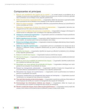 Synthèse - Le management des risques de l'entreprise - Une démarche intégrée à la stratégie et à la performance page 14