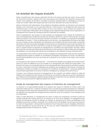 Synthèse - Le management des risques de l'entreprise - Une démarche intégrée à la stratégie et à la performance page 5