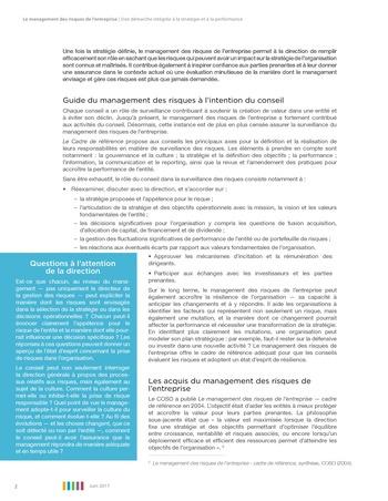 Synthèse - Le management des risques de l'entreprise - Une démarche intégrée à la stratégie et à la performance page 6