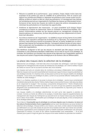 Synthèse - Le management des risques de l'entreprise - Une démarche intégrée à la stratégie et à la performance page 8