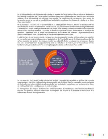Synthèse - Le management des risques de l'entreprise - Une démarche intégrée à la stratégie et à la performance page 9