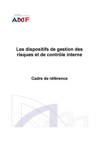 Cadre de référence des dispositifs de gestion des risques et de contrôle interne page 1