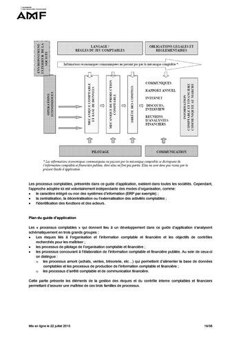 Cadre de référence des dispositifs de gestion des risques et de contrôle interne page 19