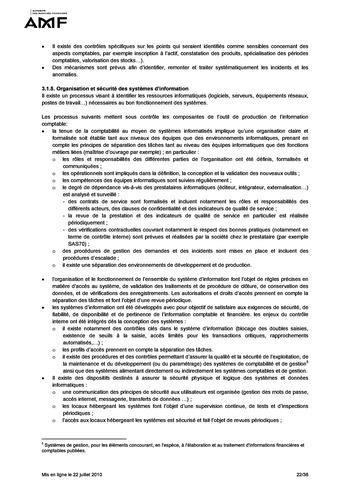 Cadre de référence des dispositifs de gestion des risques et de contrôle interne page 22